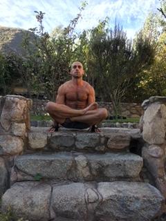 Antonio doing a yoga pose