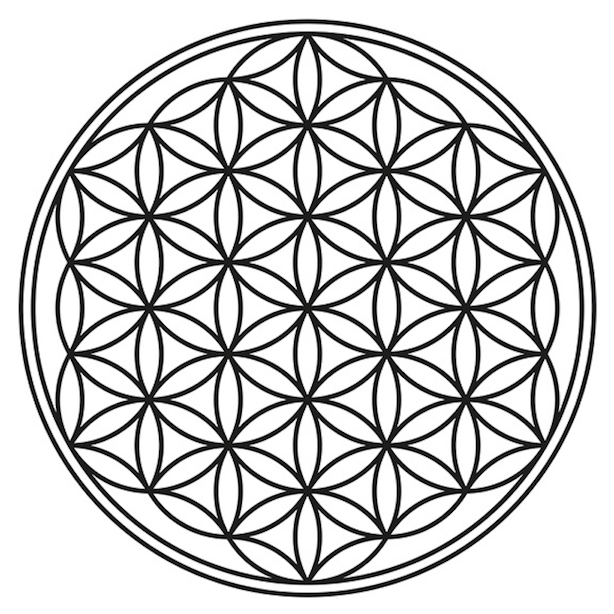 Flower of life. Each object's signature overtone series.