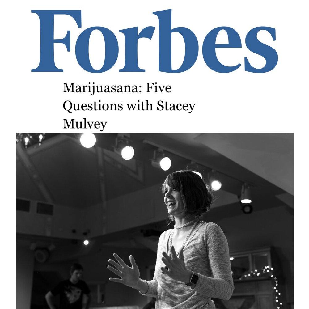 Forbes article, Stacey Mulvey, creator of Marijuasana.