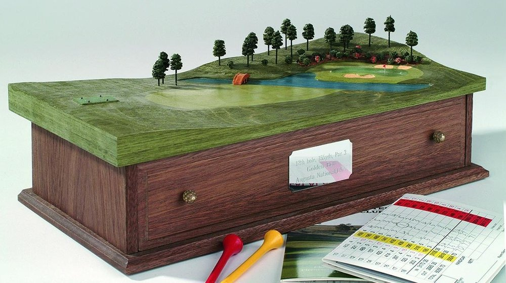 The replica of a classic hole, like the 12th at Augusta, makes a popular gift, perhaps as a special memento or as a sign of appreciation for clients, colleagues, relatives or friends