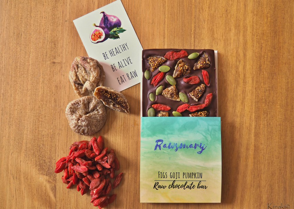 Figs Goji Pumpkin Raw Chocolate Bar
