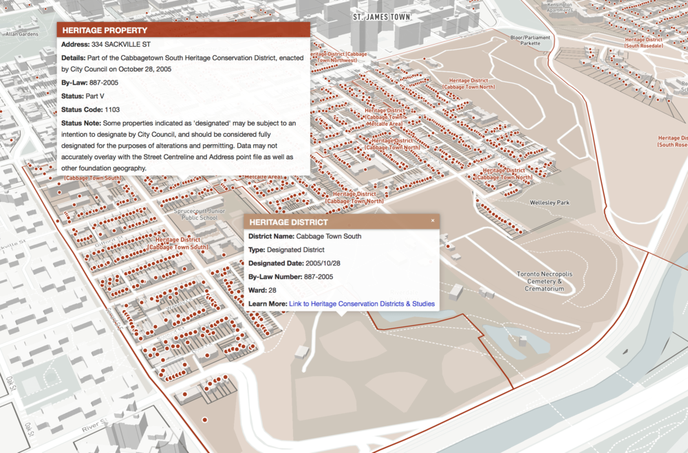 Heritage Conservation Districts & Listed/Designated Properties -
