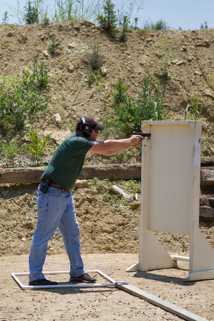 The author at a shooting competition.