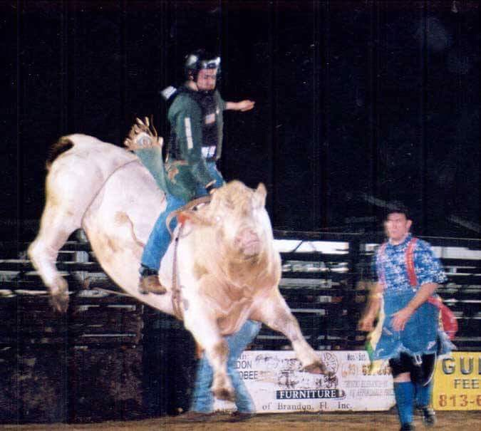 Everyone who has been a bull rider, especially the author, has hit dirt.