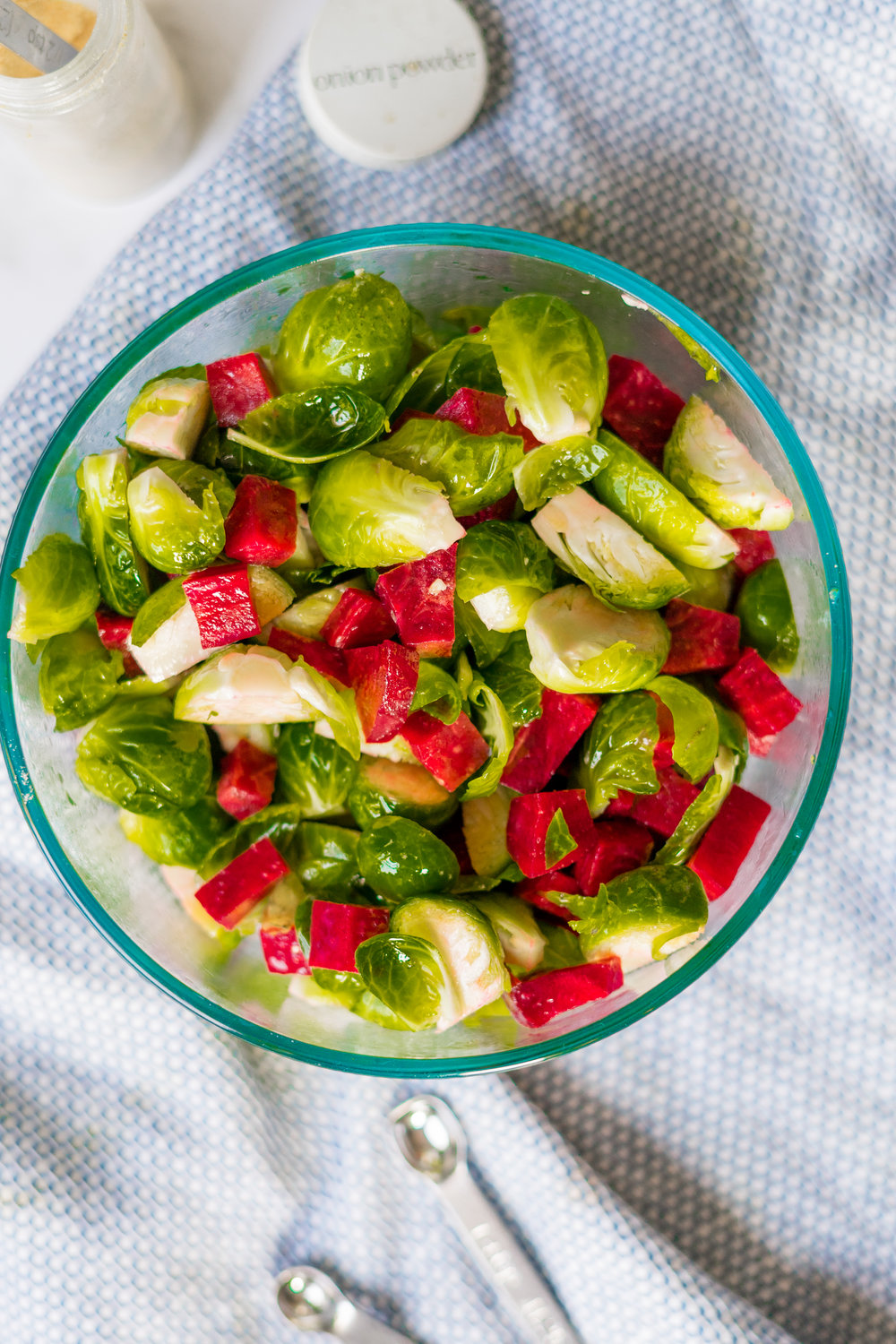 brussels sprouts, brussels sprout salad, recipe using brussels sprouts, how to cook brussels sprouts, vegan salad, vegan bacon, vegan bacon recipes, pistachios, summer salad recipe, vegan summer salad recipe, roasted vegetable salad, roasted vegetable salad recipe, vegan recipes, i am rorie, i am rorie vegan, recipe using pistachios, how to cook beets, easy vegan summer recipe, vegan parmesan, food photography