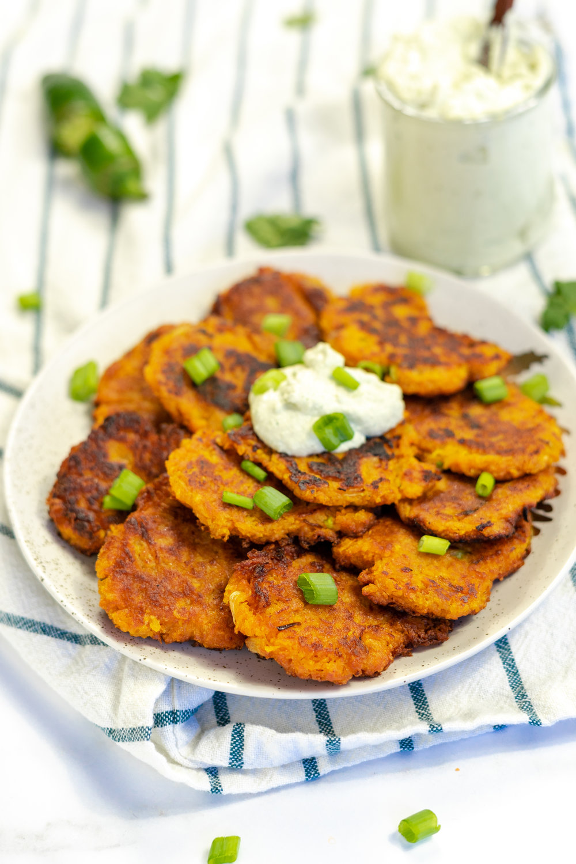 sweet potato scallion pancakes, vegan potato pancakes, vegan latke recipe, vegan potato pancake recipe, how to make vegan latkes, how to make vegan potato pancakes, vegan latkes, i am rorie vegan food blogger, i am rorie vegan latke recipe, i am rorie vegan potato pancake recipe, sweet potatoes, recipe using sweet potatoes, vegan food blogger, easy vegan recipes, chicago vegan food blogger, how to cook sweet potatoes, recipe using scallions, how to use scallions, sweet potato recipes, making vegan latkes, making vegan potato pancakes