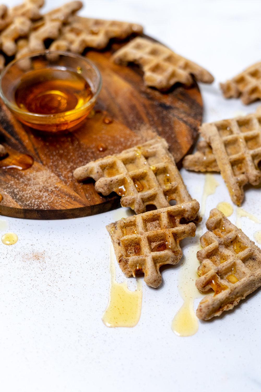 waffles, vegan waffle recipe, churro waffles, vegan churros, churro recipe, cinnamon sugar, meal prep breakfast recipe, vegan meal prep, vegan breakfast meal prep ideas, vegan meal prep breakfast recipes, vegan recipes, maple syrup, waffle recipe, easy vegan waffles, easy vegan breakfast idea, how to make vegan waffles, how to make churros, how to cook with flax meal, vegan eggs, vegan egg replacement, i am rorie, vegan food blogger, chicago food blogger, vegan chicago food blogger, gluten free, gluten free vegan recipes, gluten free waffle recipe, vegan and gluten free