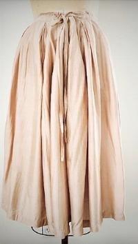 Style#: ELS - C012  Description: Elsa Gathered Skirt  50% Silk & 50% Linen  Color: Nude, Rose, Gray, Yellow  Size: S/M, M/L  Wholesale:$110.00 /MSRP:$230.00