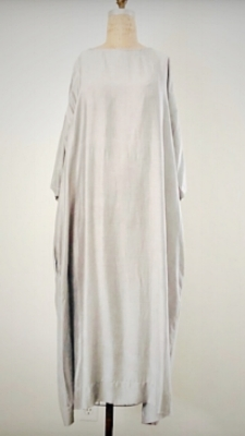 Style: IND-C010  Description: India Dress  Fabric: 50% Silk 50% Linen  Color: Gray, Nude  Size: S/M, M/L  Wholesale: 135.00