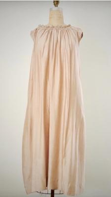 Style: RUF-C006  Description: Ruffle Collar Dress  Fabric: 50% Silk & 50% Linen  Color: Yellow, Nude, Gray  Size: S/M, M/L  Wholesale:$130.00