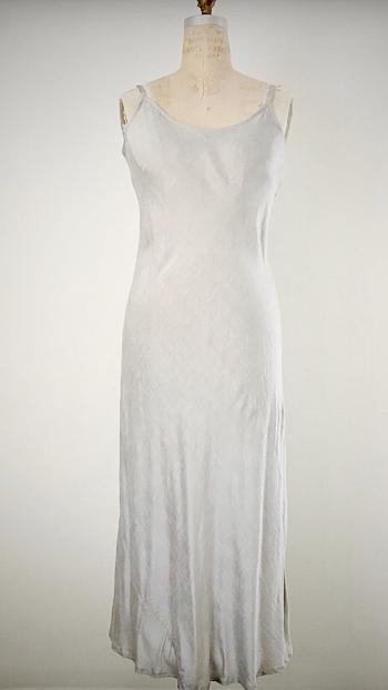 Style: MIS-C001  Description: Miso Slip Dress  Fabric: 50% Silk & 50% Linen  Color: Gray, Nude, Rose, Aqua  Size: S,M,L  Wholesale:$110.00