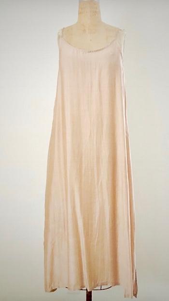 Style: CAT-C002  Description: Cate Tank Dress  Fabric: 50% Silk & 50% Linen  Color: Yellow, Nude, White  Size: S/M, M/L  Wholesale:$110.00