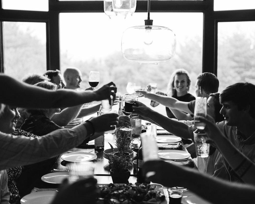 sharing food = joy -