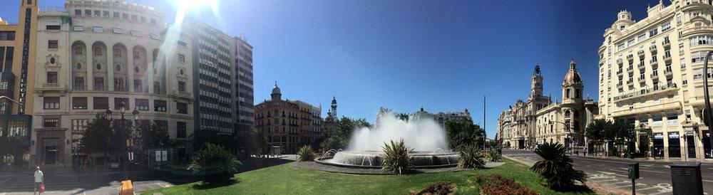 We lived next to Plaza del Ayuntamiento - the main Valencian sqaure