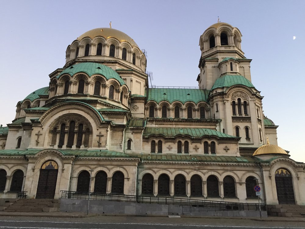 The famous Alexander Nevsky Cathedral in Sofia's city center
