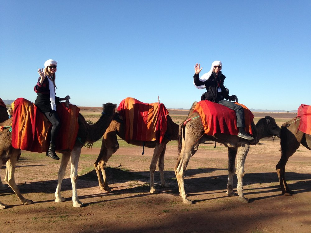 From my previous trip to Morocco, but the camel riding was familiar!