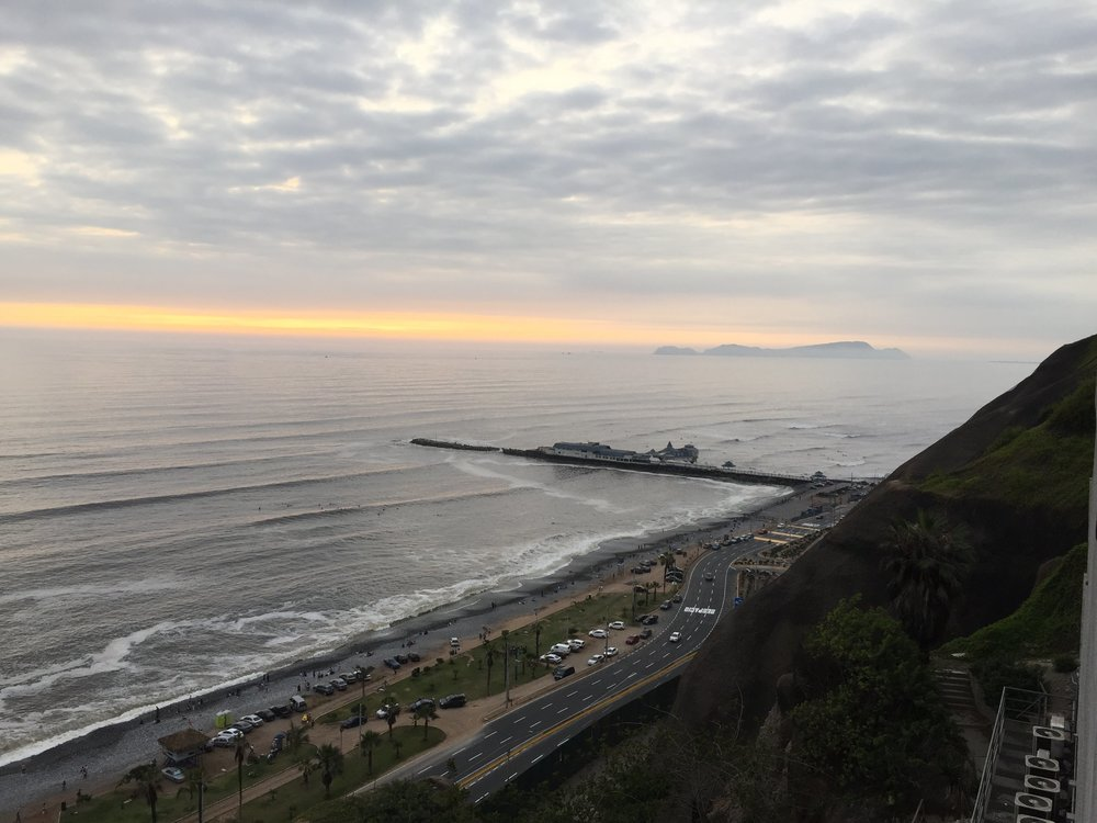 The beautiful Lima cliffs