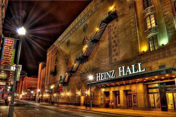 Outside Heinz Hall where Hackman spray painted the sidewalk.