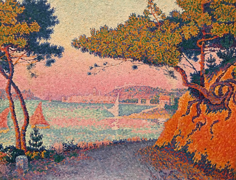 Golfe Juan , Paul Signac, From the Worcester Art Museum, 1964.27