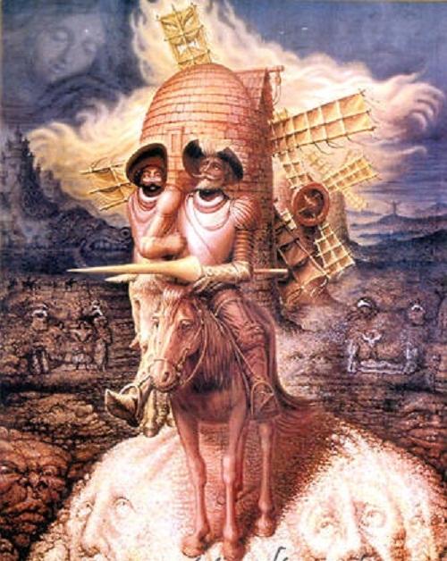 Visions of Quixote, Octavio Ocampo, 1989
