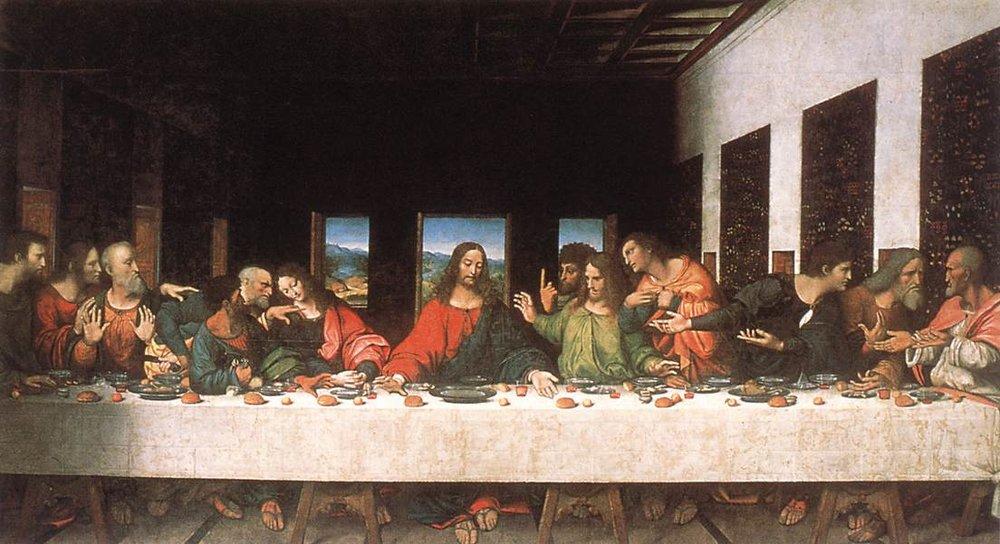 The Last Supper, Leonardo da Vinci, 1498