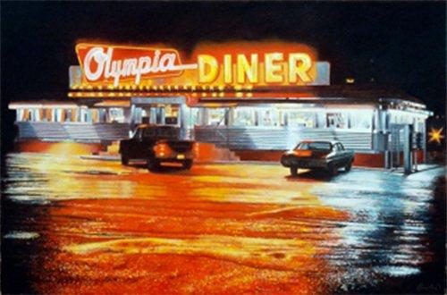 Olympia Diner, John Baeder, 2001