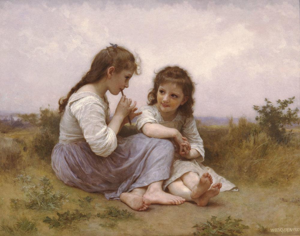 Childhood Idyll, William-Adolphe Bouguereau, 1900