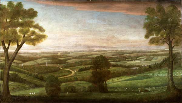 Looking East from Denny Hill , Ralph Earl, Worcester Art Museum, 1916.97