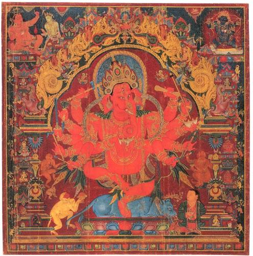 Dancing Ganesh. 1400's. Central Tibet.