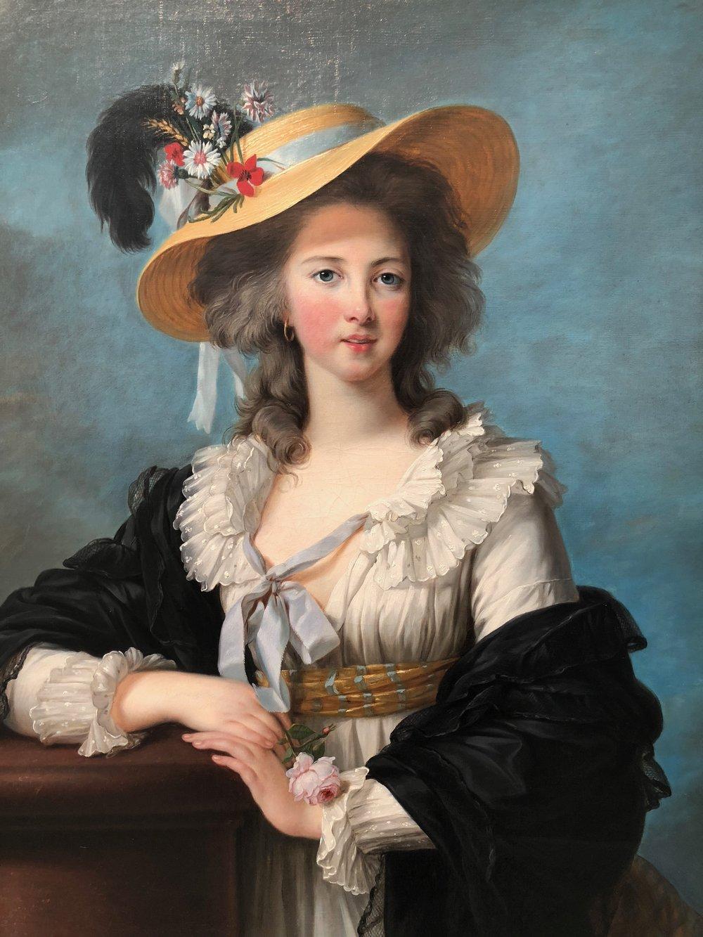 Élisabeth Vigée Le Brun,  The Duchesse de Polignac Wearing a Straw Hat,  1782
