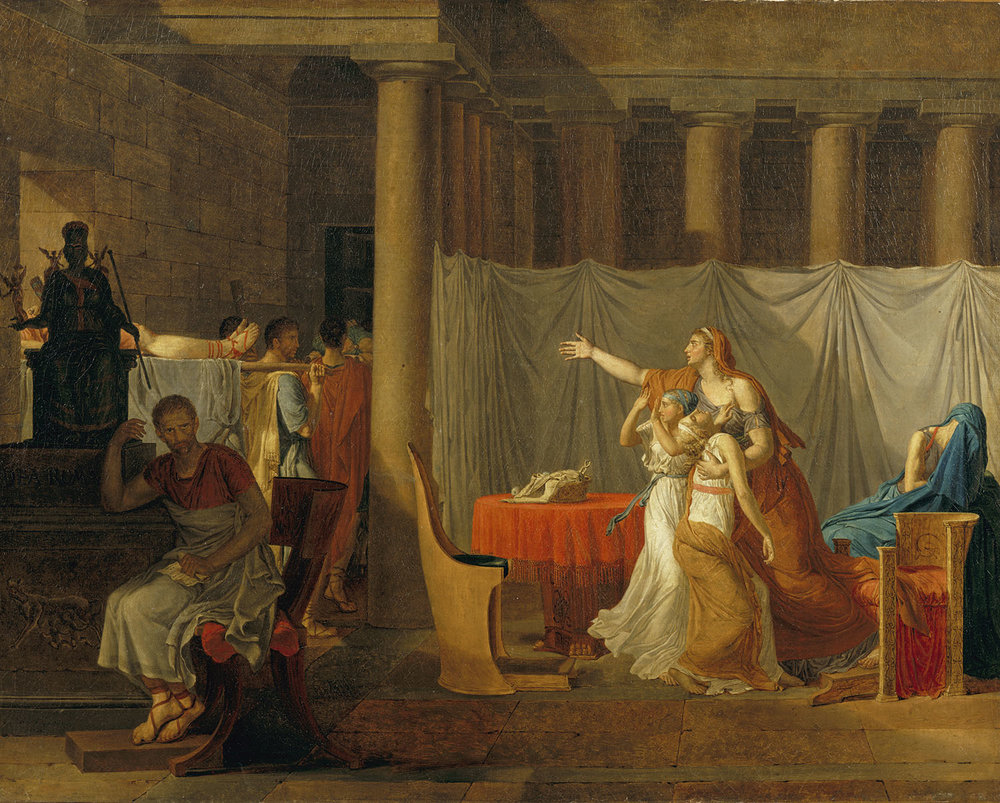 School of Jacques Louis David,  The Lictors Bringing to Brutus the Bodies of His Sons , 1934.4