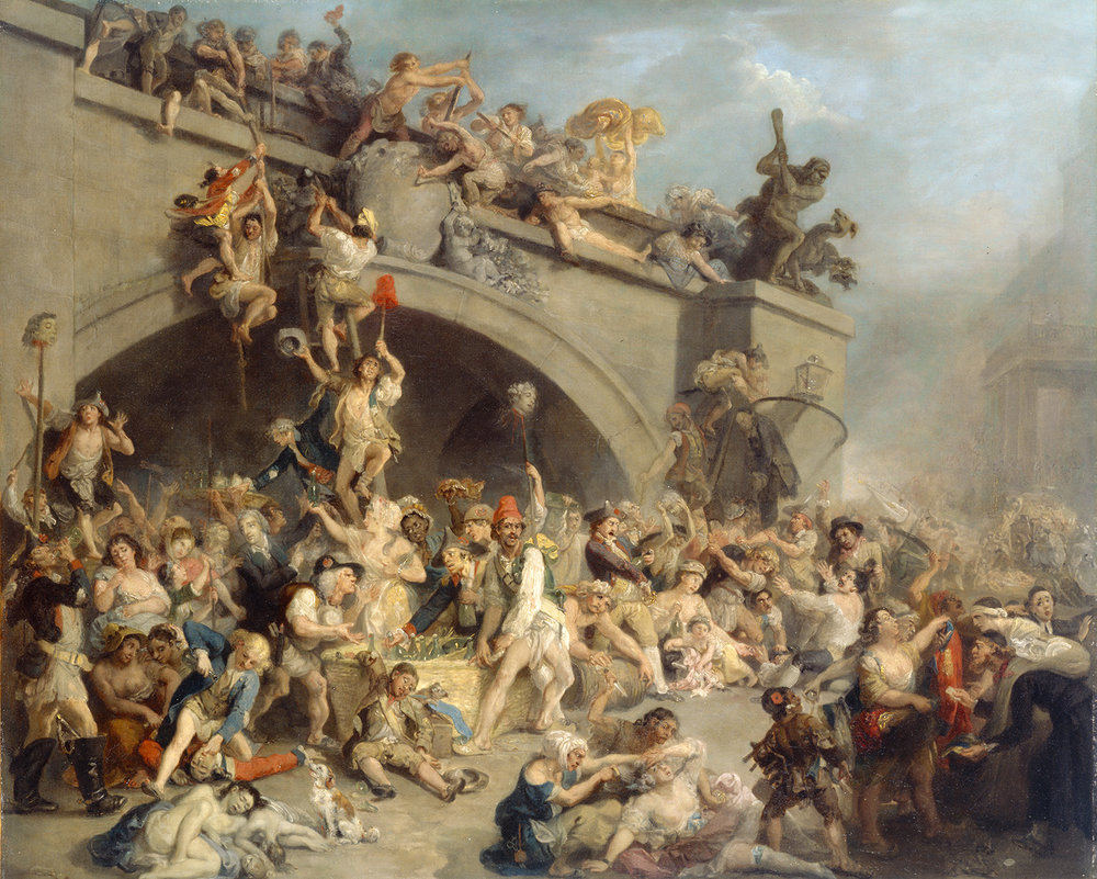 Johann Zoffany,  Plundering the King's Cellar at Paris , 1794, 1984.49