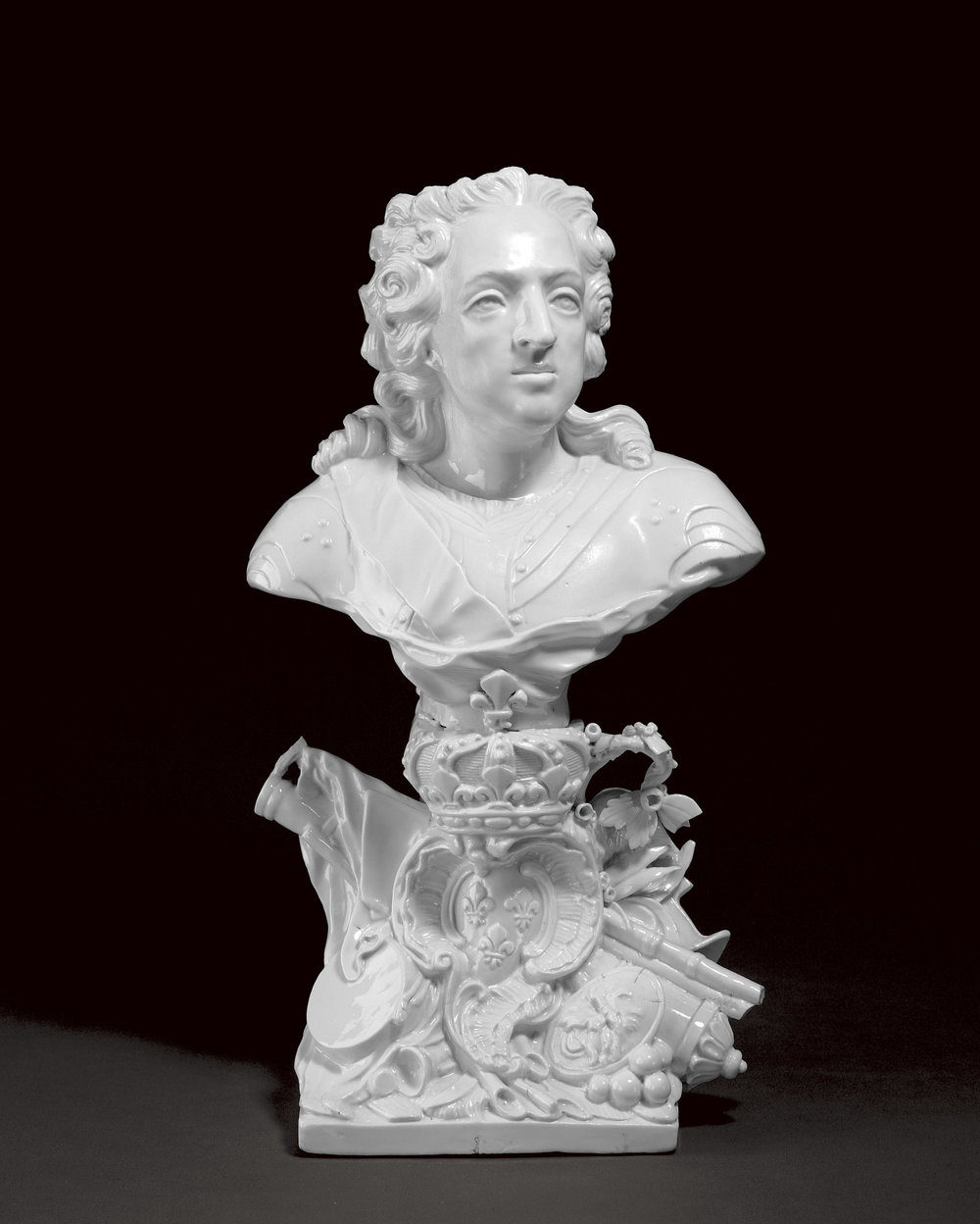 Chantilly Porcelain Factory,  Bust of Louis XV , 1755, 1917.1509