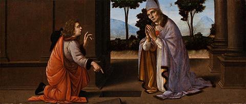 The Miracle of Saint Donatus, Leonardo da Vinci and Lorenzo di Credi, 1475–85, Worcester Art Museum