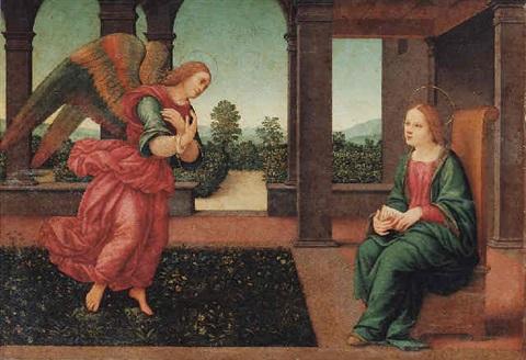 The Annunciation, Lorenzo di Credi