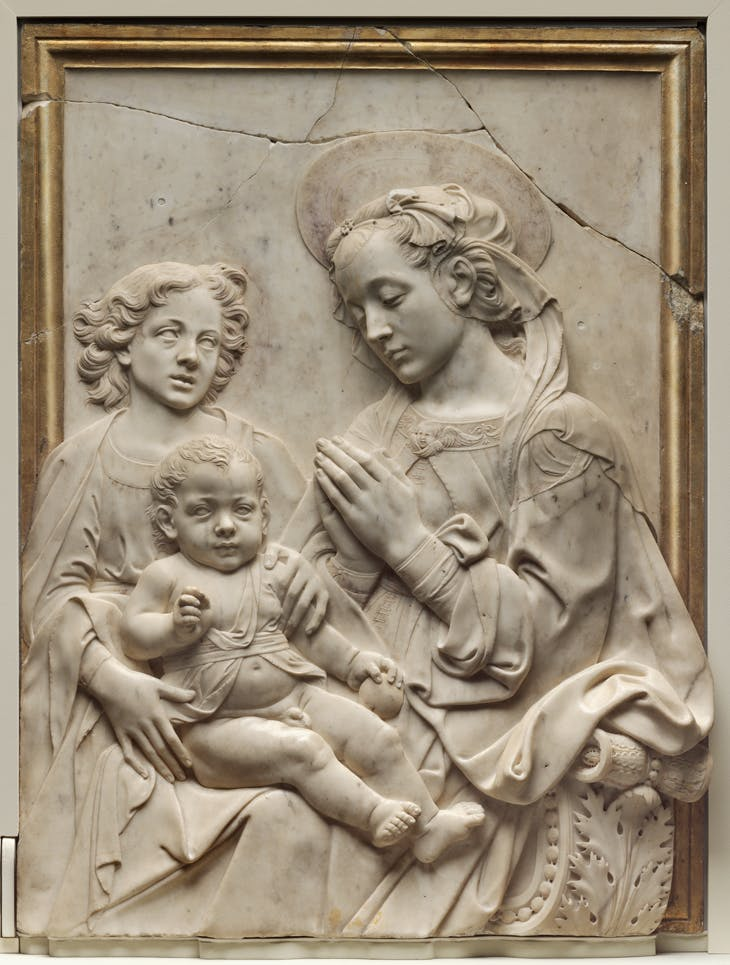 Virgin and Child with Angel,  Andrea del Verrocchio and Workshop, 1475-85, Museum of Fine Arts, Boston