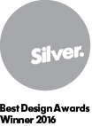 Best design awards silver winner 2016