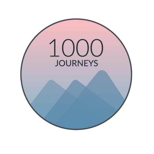 The official logo of 1,000 Journeys