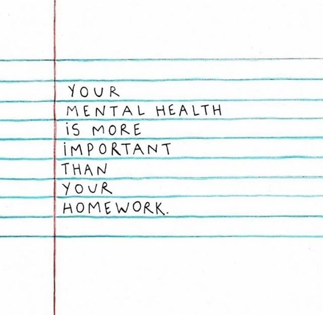 For those of you heading back to school, keep this in mind. Health comes first. Artwork from @youreneveraloneproject. . . . #mentalhealth #mentalhealthmatters #mentalhealthawareness #mentalhealthishealth #mentalillness #mentalhealthadvocate #mentalhealthwarrior #depressionsupport #depression #anxiety #anxietyproblems #school #homework #selflove #selfcare #thingstoremember #wellbeing