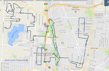 David's Marathon Route