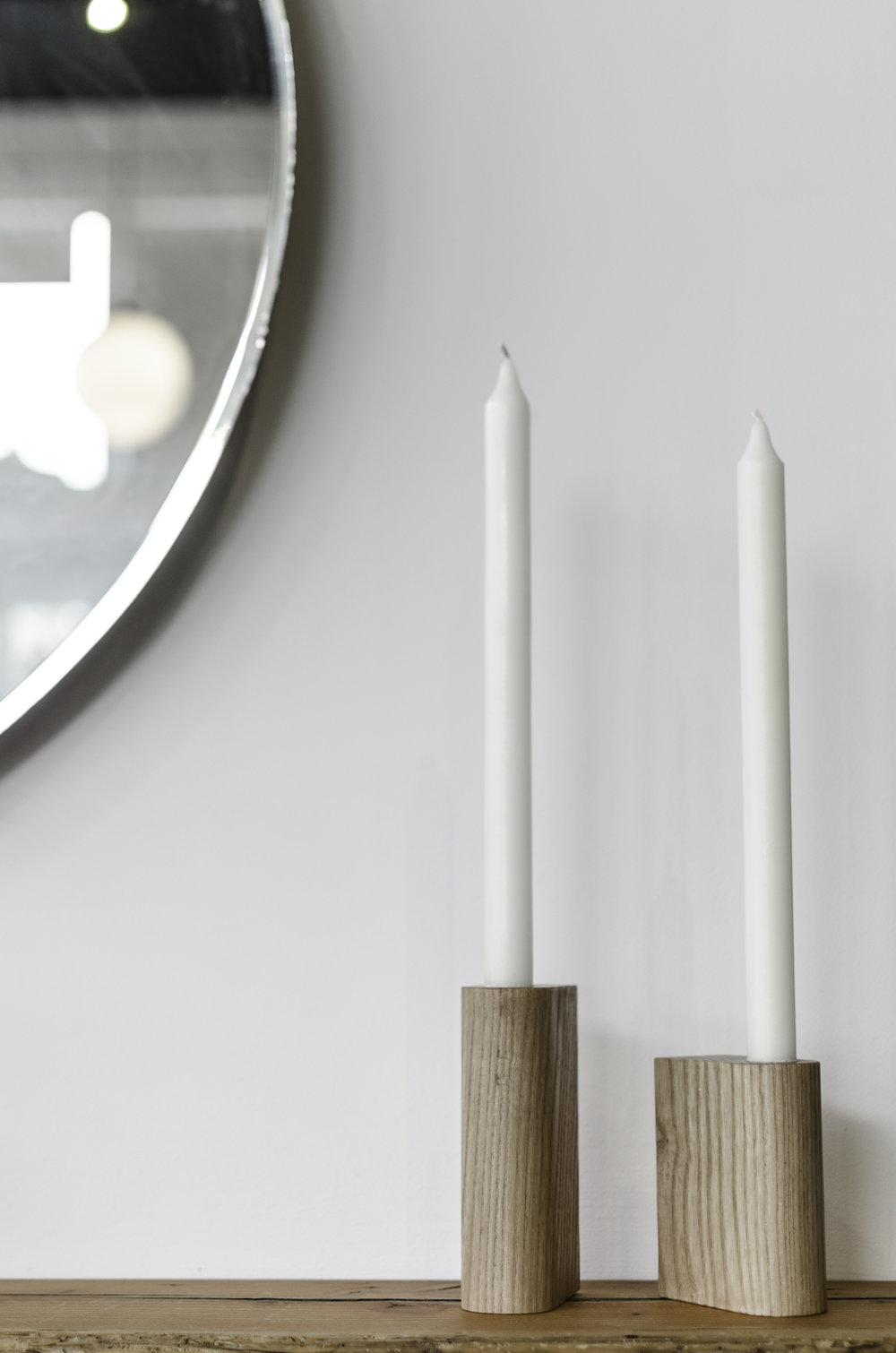 Bosque Design Candle Holders - These modern handmade candle holders seem perfect for my old roomate, she always had better taste than essentially anyone, ever. Plus the price is right!