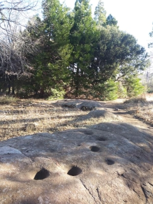 Paso Picacho Campground. Indian grinding stones.