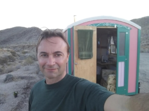 Yaqui Pass in Anza Borrego State Park. Free camping and cell phone reception. (I am working, sort of.)