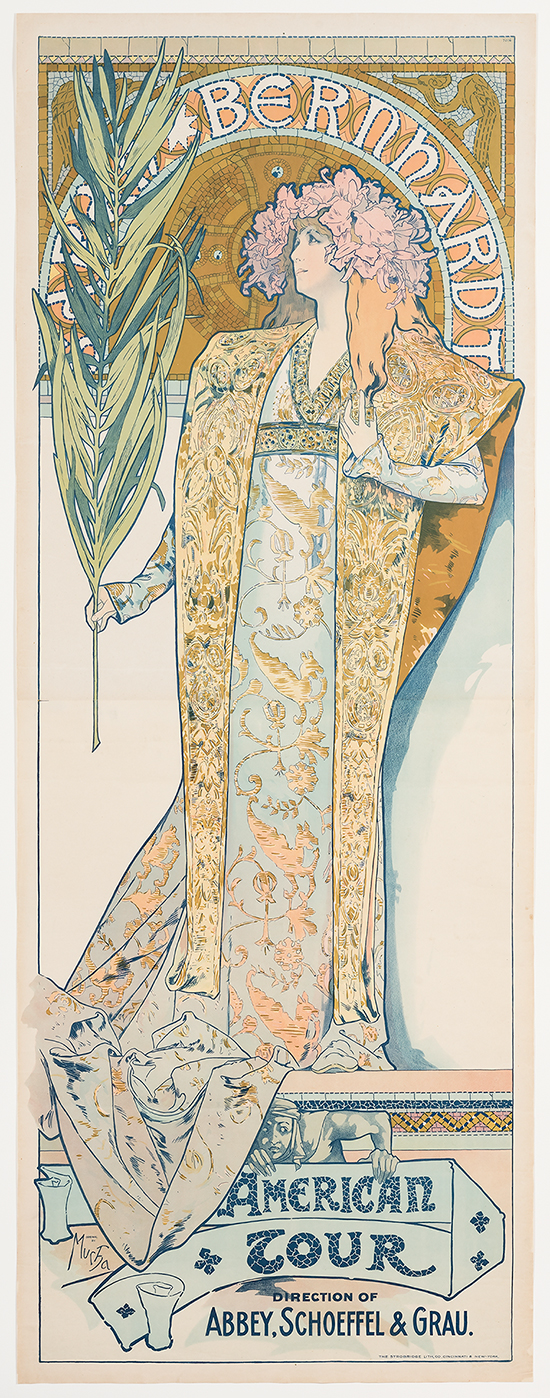 Alphonse Mucha  (Czech, 1860-1939)   Gismonda , 1894  Color lithograph  85 1/4 x 36 1/4 in.