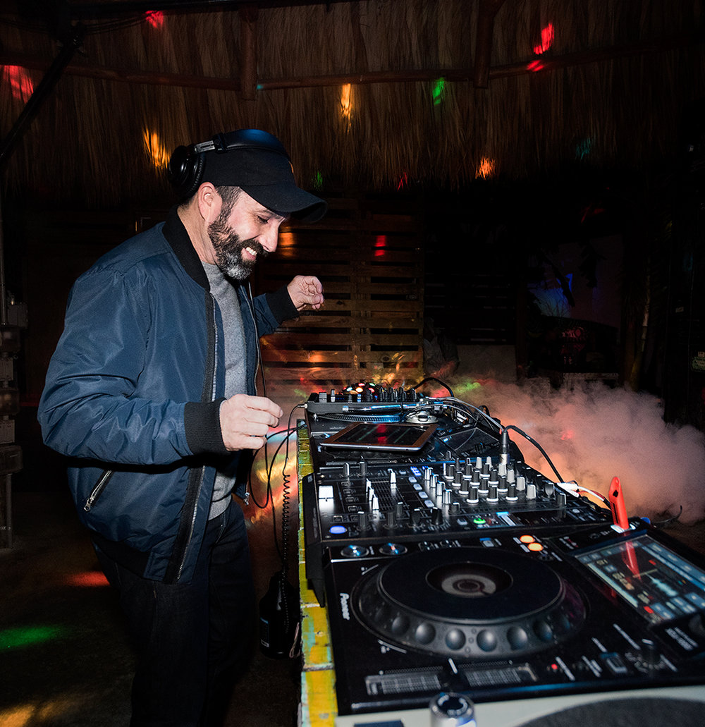 Guest DJ, Cabezita, spinning during Double Stubble at Gramps in the heart of Wynwood