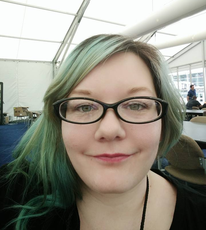 The lighting in the media pavilion was  fabulous  for selfies