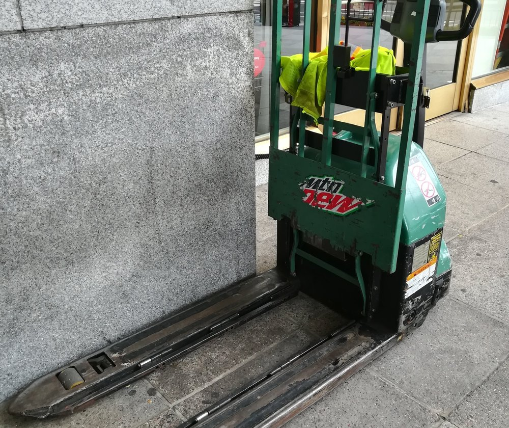 It's a Mtn Dew branded forklift!