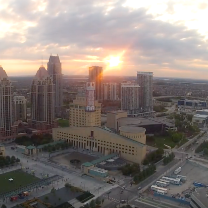 Sunset time-lapse of Celebration Square -
