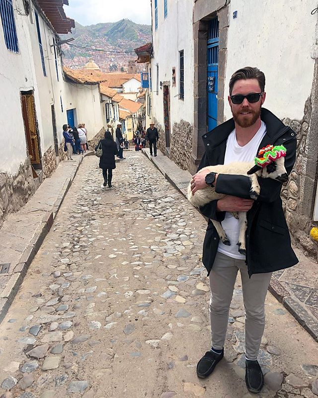 I traded @annaswnski for this baby alpaca 🦙🇵🇪⛰ #Cuzco #Cusco #Peru #Alpaca #HeadbandTanline