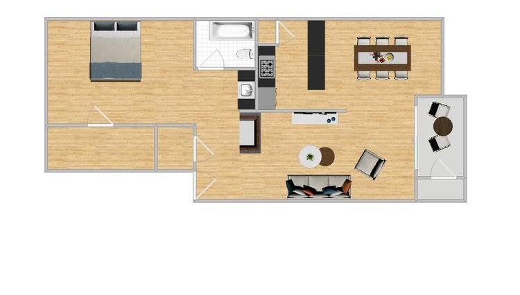 Unit 113,213 - 725 Sq. Ft1 Bedroom 1 Bath2nd Floor with Fireplace$800 / Month$100 Application$500 Deposit
